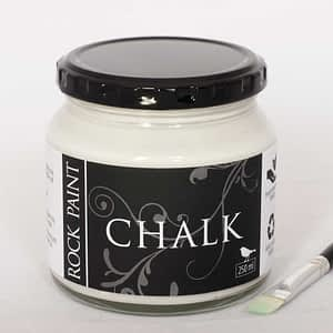 Chalk paint for a rock painting base coat