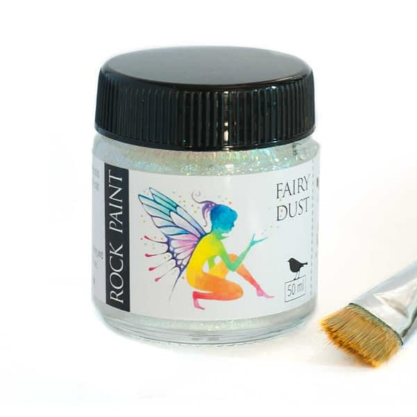Glitter acrylic craft paint specially formulated to paint onto pebbles, stones and rocks. it can also be used as a high quality paint for wood and crafts.